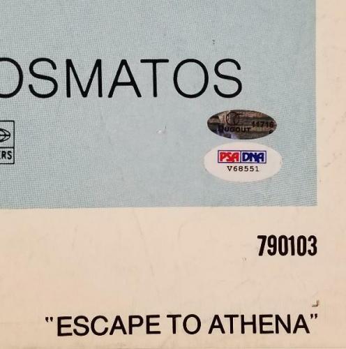 ROGER MOORE Signed Escape To Athena 28x40 Original 1979 Movie Poster PSA/DNA COA
