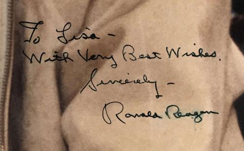 President Ronald Reagan Signed Autographed 13x19 Oversized Photograph JSA