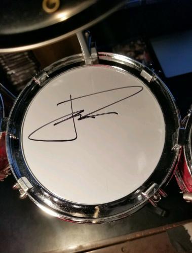 21 Twenty One Pilots Josh Dun Tyler Joseph Signed Desktop Drum Set PSA/DNA COA