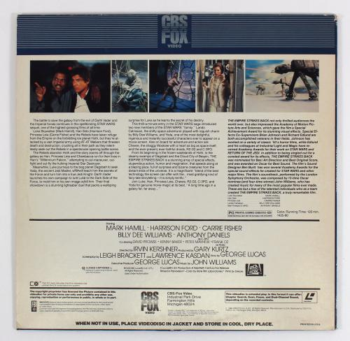 George Lucas Signed Star Wars The Empire Strikes Back Laserdisc Cover W/Disk BAS