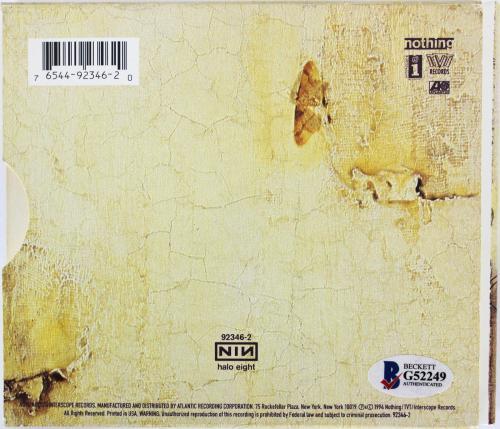 Trent Reznor Nine Inch Nails Signed The Downward Spiral Cd Cover BAS #G52249
