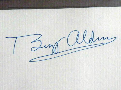 Buzz Aldrin Apollo 11 Nasa Astronaut Signed Auto Cut Index Beckett Bas Gem