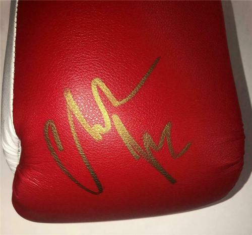 CHRISTIAN BALE autograph THE FIGHTER signed Title Boxing Glove ~ Beckett BAS COA