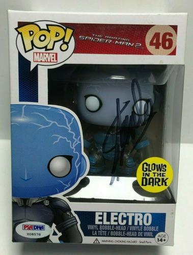 Stan Lee Signed Marvel Spider-Man 2:Electro Vaulted Funko POP #46 PSA X08578