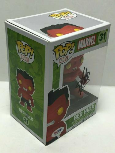Stan Lee Signed Marvel:Red Hulk Vaulted Funko POP #31 PSA X72538