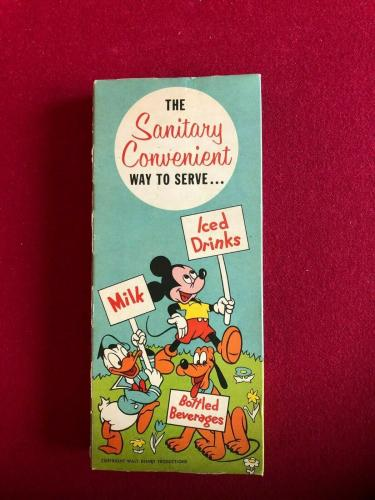 """1950's, Walt Disney, """"Un-Opened"""" Mickey Mouse Paper Drinking Straws (Vintage)"""