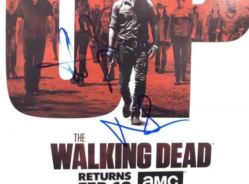 Andrew Lincoln & Lauren Cohan Signed 'The Walking Dead' 12x18 Photo BAS E49985