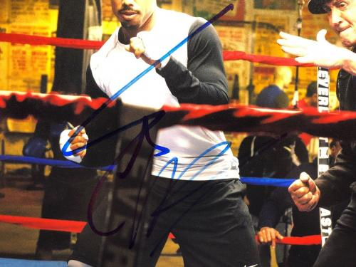 Sylvester Stallone & Michael B. Jordan Signed 'Creed' 11x14 Photo PSA AB07408