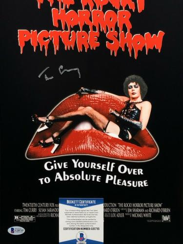 Tim Curry Signed 'The Rocky Horror Picture Show' 11x17 Photo BAS Beckett G20735