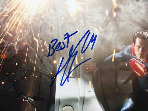 Henry Cavill & Michael Shannon Signed Superman 11x14 Photo *Man Of Steel PSA