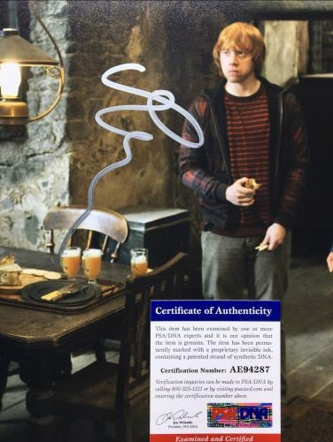 Rupert Grint Signed 'Harry Potter' 11x14 Photo *Ron Weasley PSA AE94287