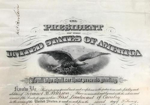 An Elaborate Teddy Roosevelt Signed Military Appointment, PSA