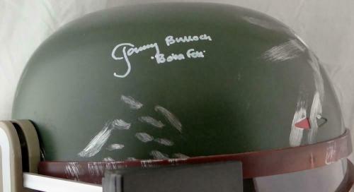 Jeremy Bulloch Signed Star Wars Boba Fett Helmet w/Boba Fett- JSA W Auth *White