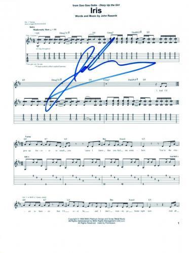 John Rzeznik Signed Autographed Goo Goo Dolls IRIS 8.5x11 Sheet Music Page COA