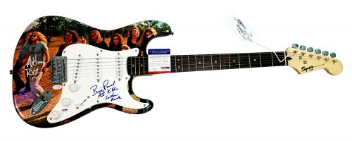 Lynyrd Skynyrd Signed Billy Powell Plus Graphics Guitar PSA ACOA Witness