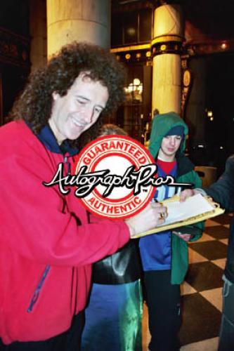 Queen Brian May Autographed Signed Custom Graphics Guitar AFTAL UACC RD COA