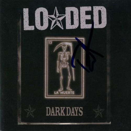Duff McKagan Loaded Signed Dark Days CD Cover Guitar RACC TS UACC RD AFTAL
