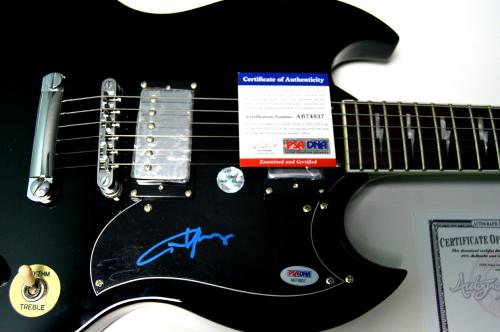 AC/DC ACDC Angus Young Autographed Gibson Replica Signature Angus Guitar PSA