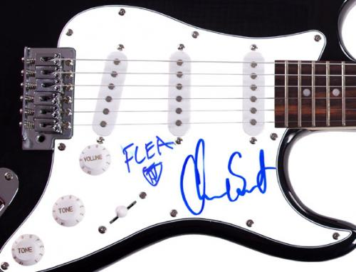 Red Hot Chilli Peppers Signed Guitar RACC TS UACC RD AFTAL