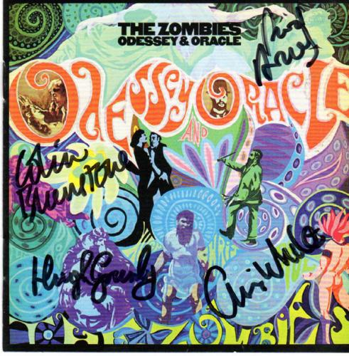 The Zombies Signed Odessey & Oracle Album CD Acoustic Guitar AF