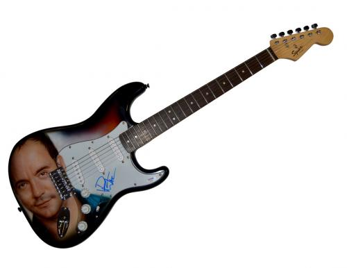 Dave Matthews Airbrushed Signed Guitar + Display Shadowbox Case PSA &Video Proof