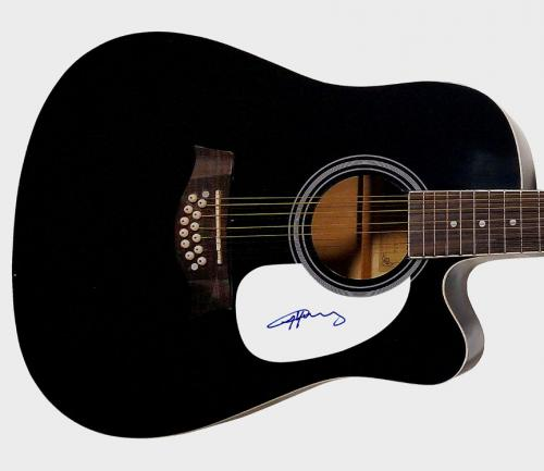 AC/DC Angus Young Autographed Signed 12 String Acoustic Guitar & Proof