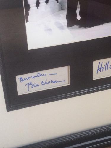 Bill & Hillary Clinton Autographed Signed Custom Dancing Photo Display JSA AFTAL