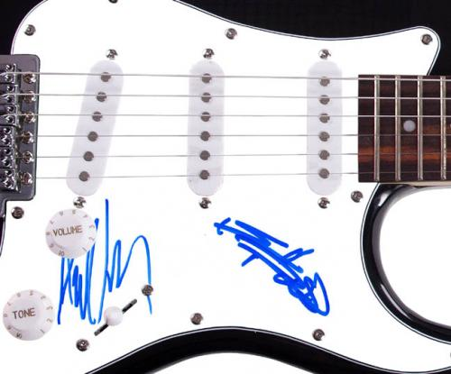 The Rolling Stones Keith Richards Mick Taylor Autographed Guitar & Proof