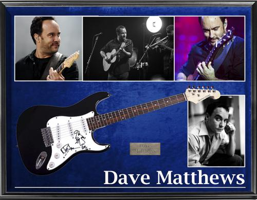 The Dave Matthews Band Autographed Guitar w Artwork + Display &Video AFTAL