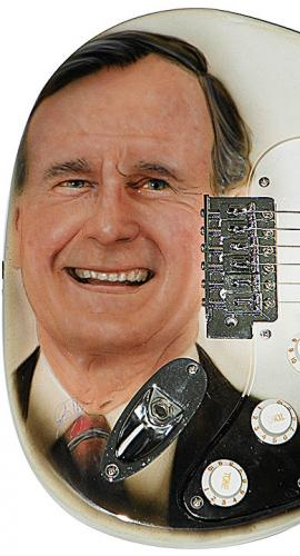 George Bush Senior Autographed Airbrushed Guitar Preorder
