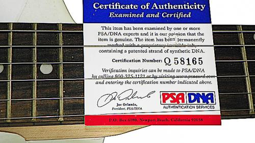 George Bush Senior Autographed Airbrushed Guitar Preorder PSA & Proof AFTAL