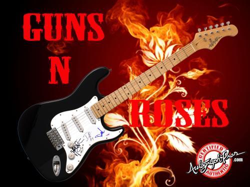 Velvet Revolver GNR Autographed Signed Guitar UACC & PSA AFTAL