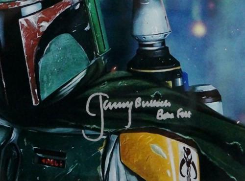Jeremy Bulloch Autographed Star Wars Boba Fett Close Up 11x14 Photo- JSA Auth