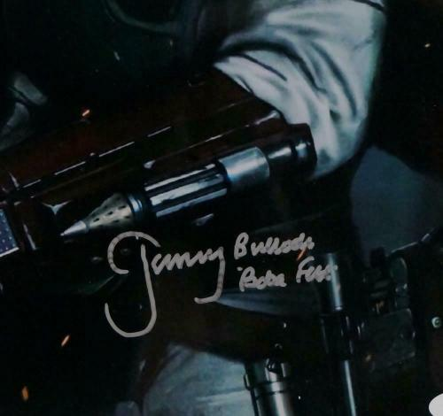 Jeremy Bulloch Autographed Star Wars Boba Fett with Gun 11x14 Photo- JSA Auth