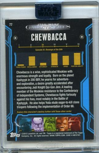 Peter Mayhew Signed Star Wars Topps Archives Signature Series Chewbacca 1/4