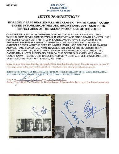 Beatles Paul McCartney Ringo Starr Signed Autographed White Album Beckett BAS