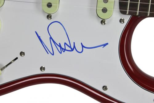 Roger Waters & Nick Mason Pink Floyd Signed Fender Guitar PSA #S00863