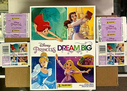 Panini Disney Princess Dream Big Stickers & Albums Combo Case