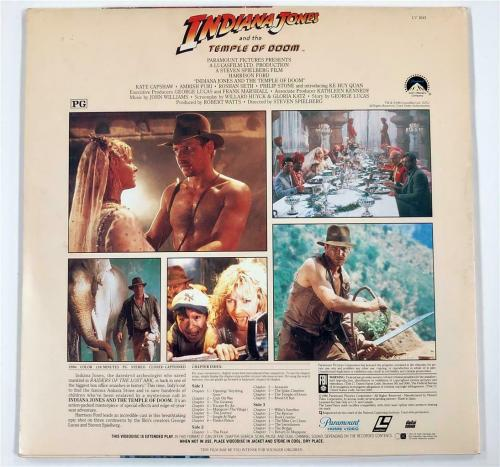 GEORGE LUCAS Autograph INDIANA JONES Signed LaserDisc Cover ~Beckett BAS COA LOA