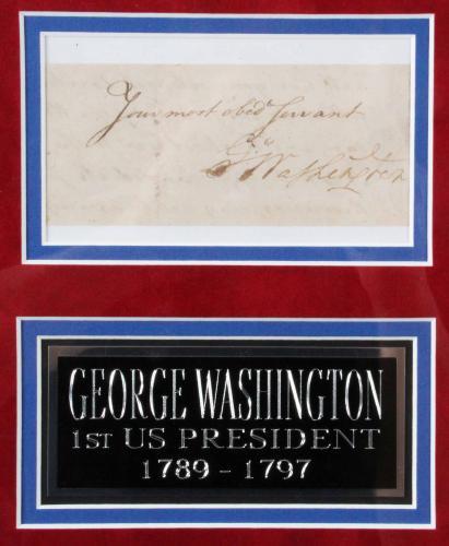 All U.S. Presidents Signed Cut Display (45) George Washington to Donald Trump – COA PSA/DNA