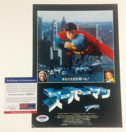 MARGOT KIDDER & JACK O'HALLORAN signed Japanese SUPERMAN Magazine Photo ~PSA COA