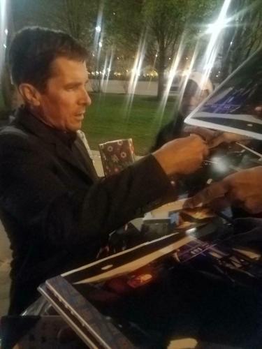 CHRISTIAN BALE signed (BATMAN BEGINS DARK KNIGHT) 8X10 photo *PROOF* W/COA #2