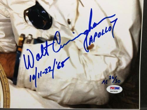 Walt Cunningham Signed 'Apollo 7' 16x20 Photo *Astronaut PSA 4A23055