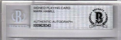 """MARK HAMILL Signed Autographed """"WING COMMANDER"""" Playing Card SLABBED Beckett BAS"""