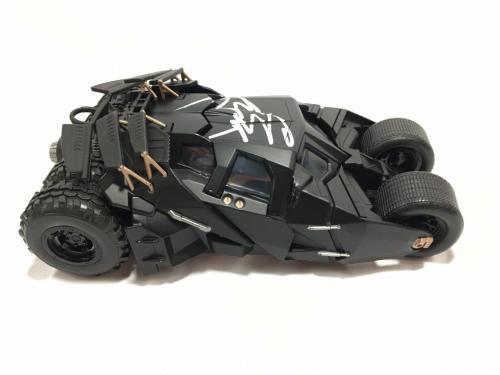 Christian Bale Signed Batmobile The Dark Knight 1:24 BAS Coa Batman