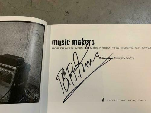 BB King Hit Makers Signed Autographed HB Book Beckett Certified Blues Great