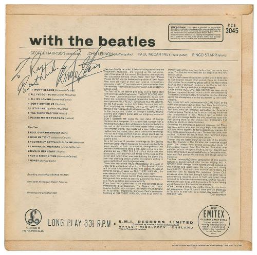 Paul McCartney Ringo Starr Signed With The Beatles Album Beckett BAS