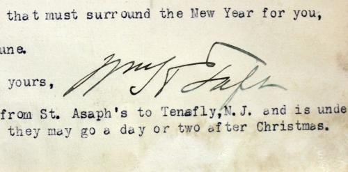 William H. Taft Signed 6 Page 8x10.5 Letter Dated December 24, 1917 BAS #A39056