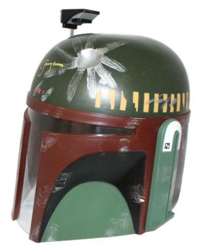 Jeremy Bulloch Autographed/Signed Star Wars Boba Fett Replica Helmet JSA 23917
