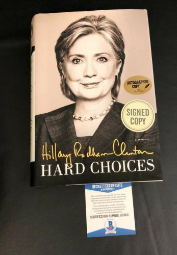 Hillary Clinton Signed Book Hard Choices Autograph Beckett Bas Coa 1